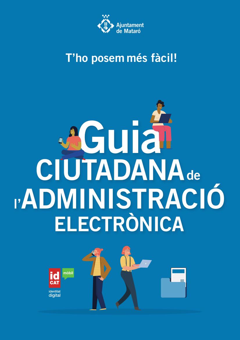 Portada de la Guia ciutadana de l'administració electrónica de Mataró