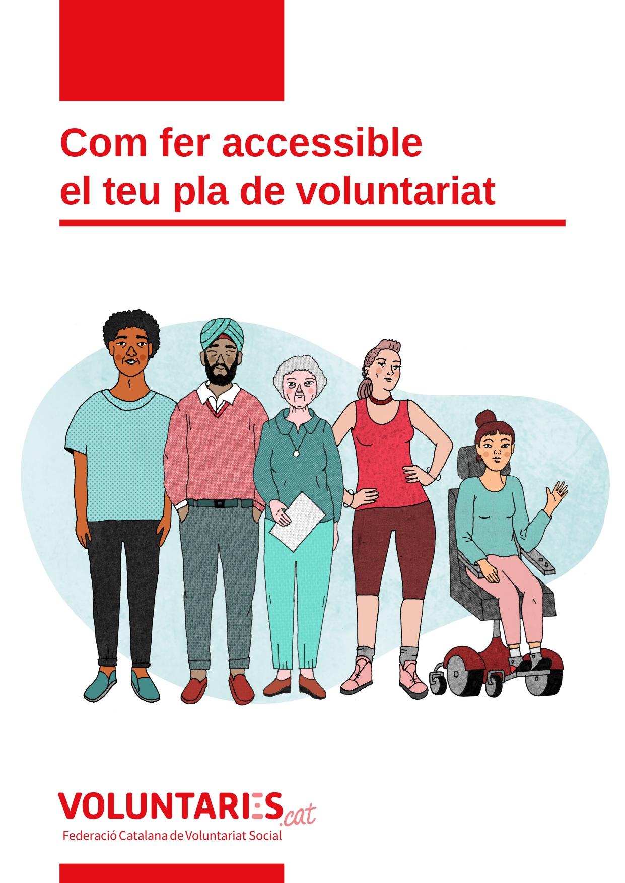Portada de la Guia Com fer accessible el teu pla de voluntariat